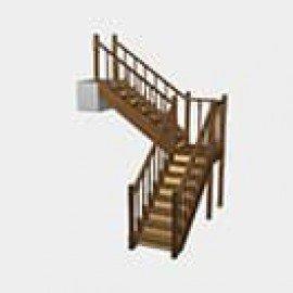 Лестница с поворотом на 90 градусов