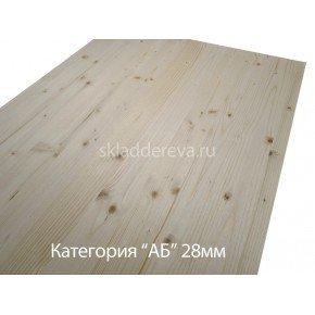 Мебельный щит из хвои с сучками 28мм×500мм×2000мм