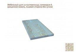 Мебельный щит из лиственницы категория А 1000мм×1000мм×40мм