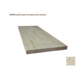 Мебельный щит из сосны без сучков 800мм×1500мм×28мм
