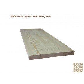 Мебельный щит из сосны без сучков 28мм×500мм×1000мм