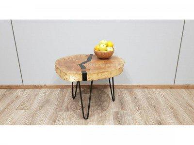 """Кофейный столик из спила дуба """"бабочки"""" - Нет в наличии"""