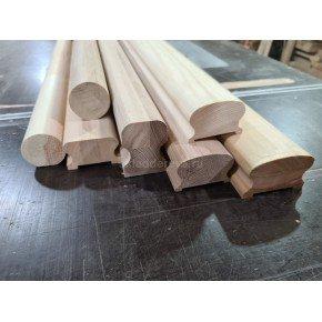 Перила из ясеня сращенная ламель без сучков, под (60) балясину (под заказ), 4000мм